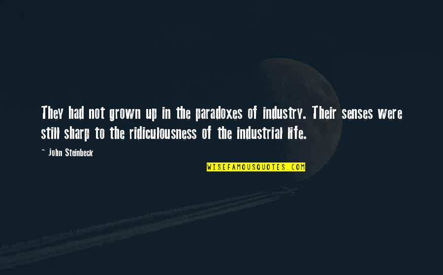 Impellers Quotes By John Steinbeck: They had not grown up in the paradoxes