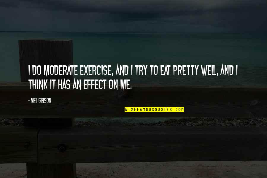 Impellers Quotes By Mel Gibson: I do moderate exercise, and I try to
