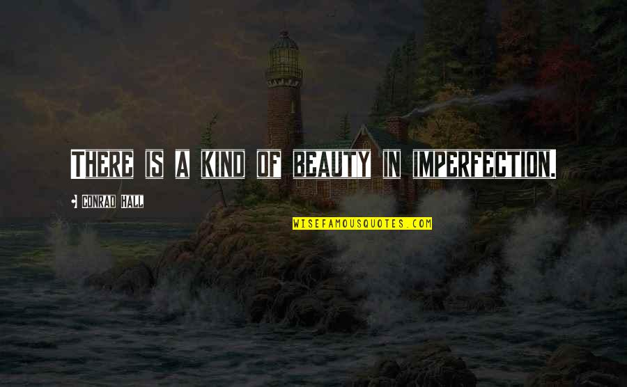 Imperfection And Beauty Quotes By Conrad Hall: There is a kind of beauty in imperfection.