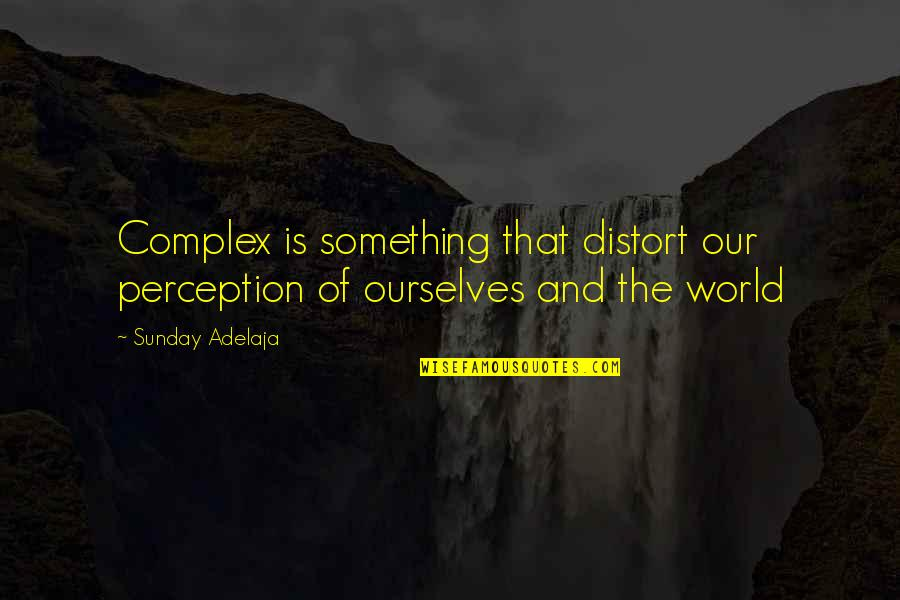 Importance Of School Libraries Quotes By Sunday Adelaja: Complex is something that distort our perception of