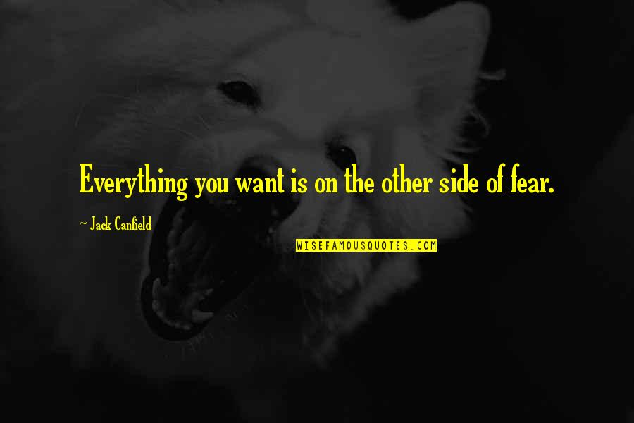 Importance Of Speaking English Quotes By Jack Canfield: Everything you want is on the other side