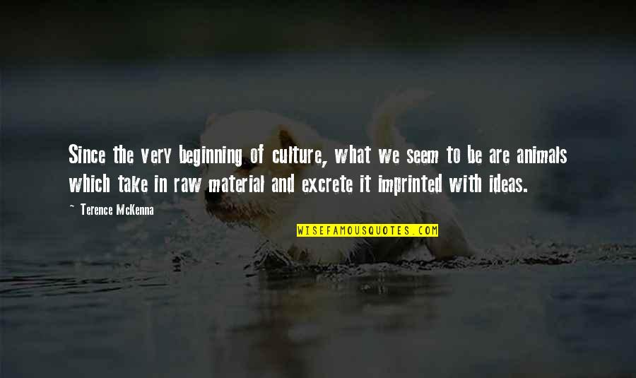 Imprinted Quotes By Terence McKenna: Since the very beginning of culture, what we