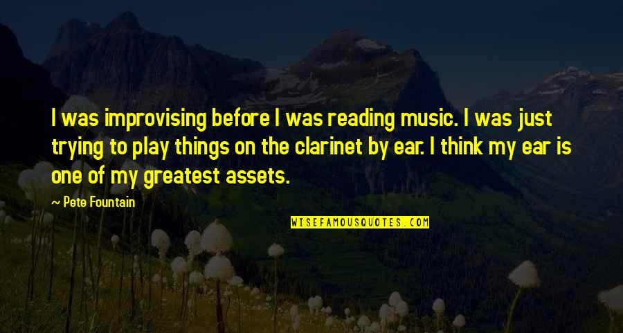 Improvising Quotes By Pete Fountain: I was improvising before I was reading music.
