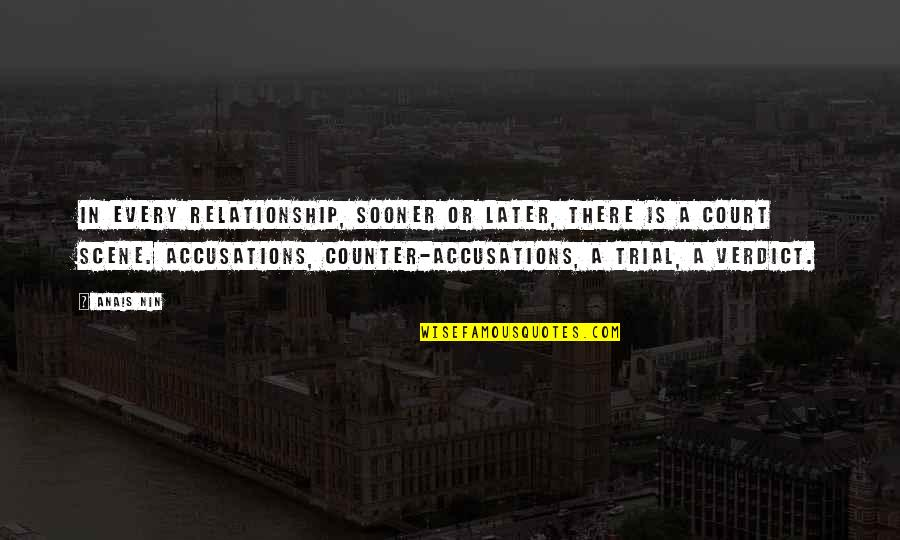 In A Relationship Quotes By Anais Nin: In every relationship, sooner or later, there is
