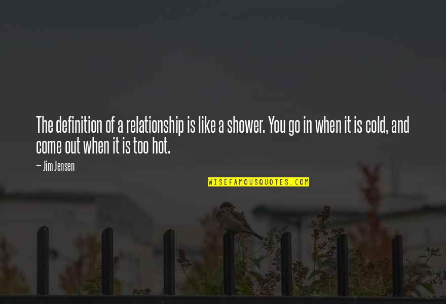 In A Relationship Quotes By Jim Jensen: The definition of a relationship is like a
