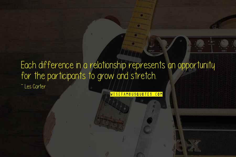 In A Relationship Quotes By Les Carter: Each difference in a relationship represents an opportunity