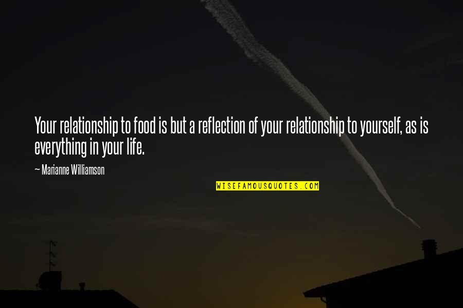 In A Relationship Quotes By Marianne Williamson: Your relationship to food is but a reflection