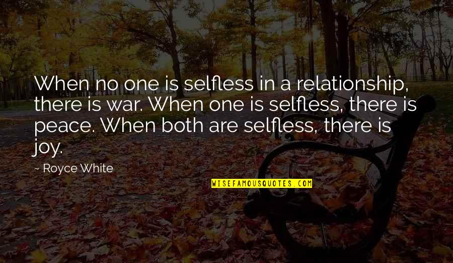 In A Relationship Quotes By Royce White: When no one is selfless in a relationship,