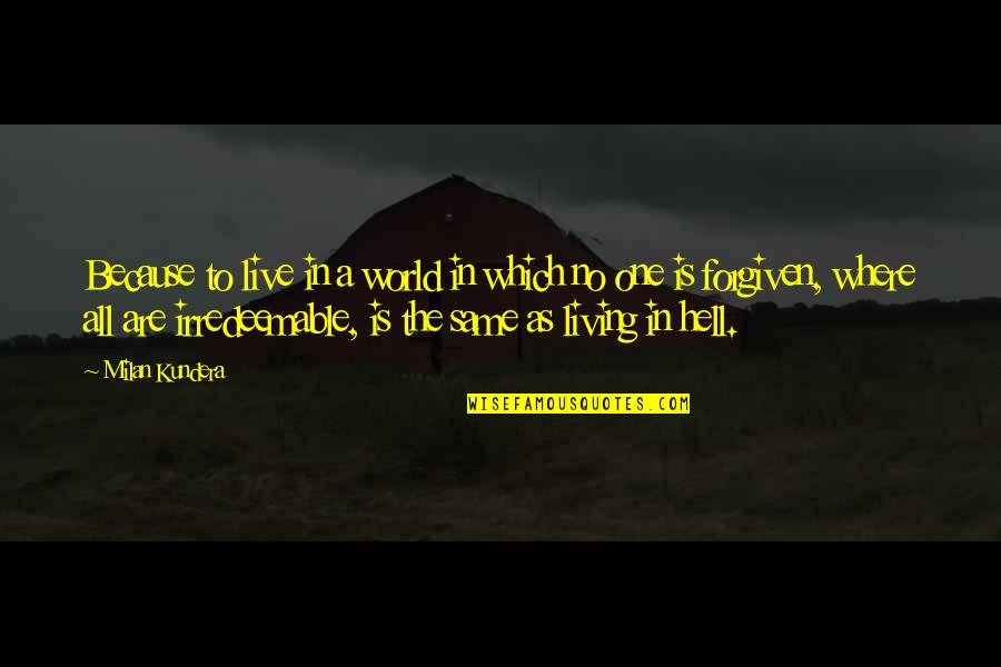 In A World Where Quotes By Milan Kundera: Because to live in a world in which