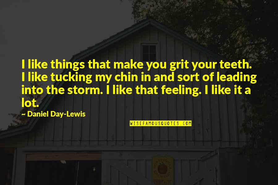 In My Day Quotes By Daniel Day-Lewis: I like things that make you grit your