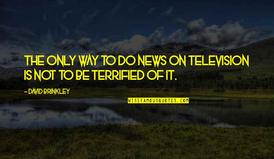 In Other News Quotes By David Brinkley: The only way to do news on television