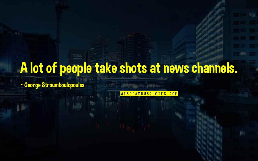 In Other News Quotes By George Stroumboulopoulos: A lot of people take shots at news