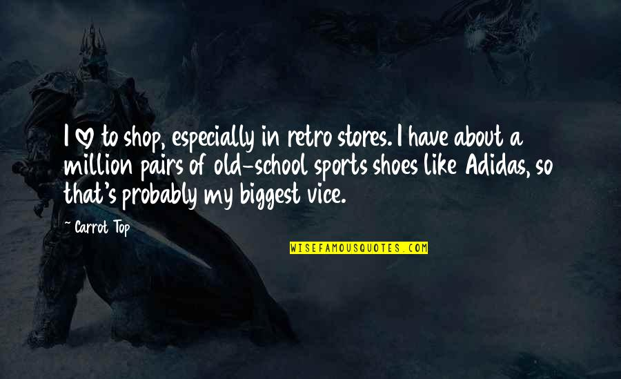 In School Quotes By Carrot Top: I love to shop, especially in retro stores.