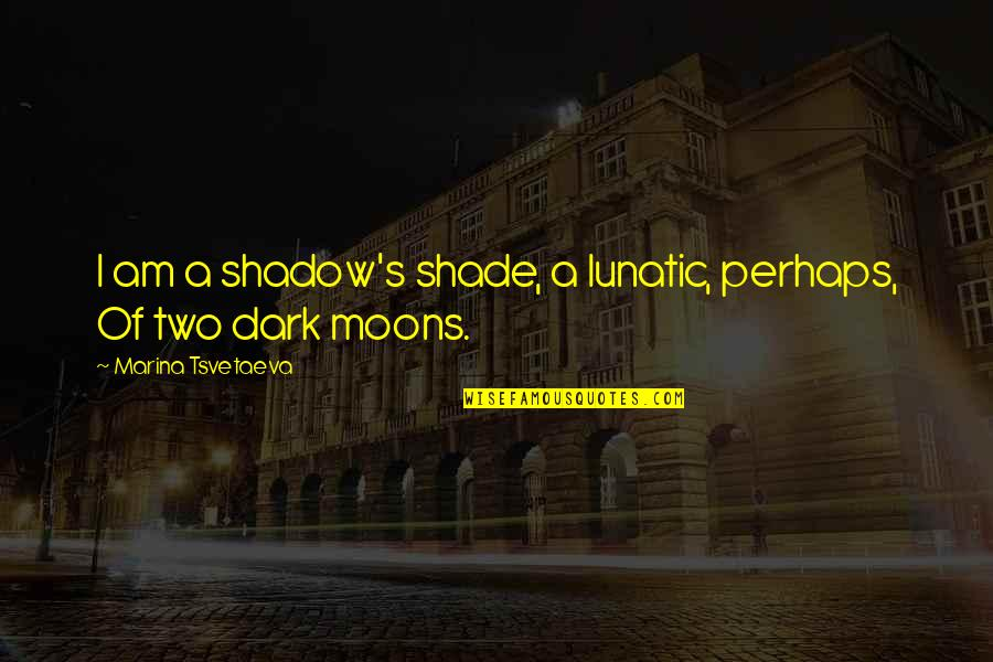 In The Shadow Of The Moon Quotes By Marina Tsvetaeva: I am a shadow's shade, a lunatic, perhaps,
