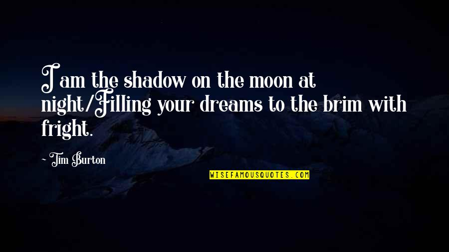 In The Shadow Of The Moon Quotes By Tim Burton: I am the shadow on the moon at