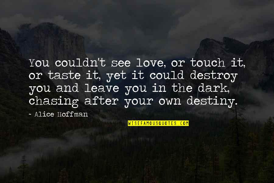 In Touch Quotes By Alice Hoffman: You couldn't see love, or touch it, or