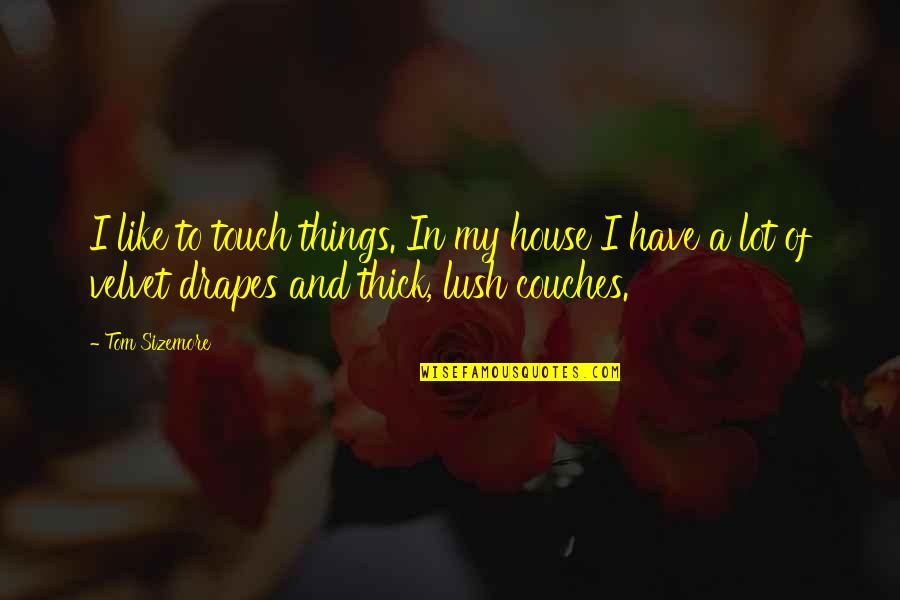 In Touch Quotes By Tom Sizemore: I like to touch things. In my house