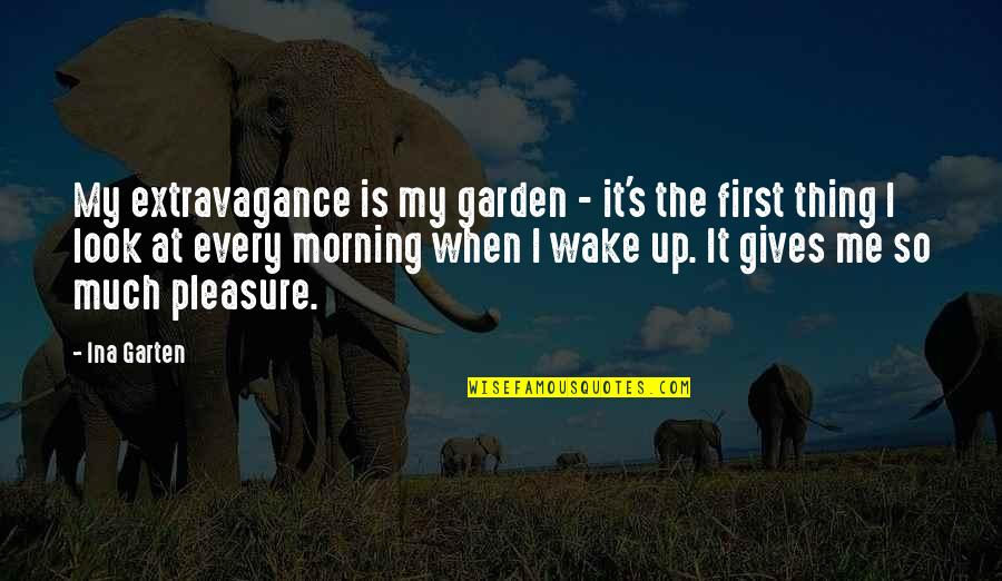 Ina Quotes By Ina Garten: My extravagance is my garden - it's the