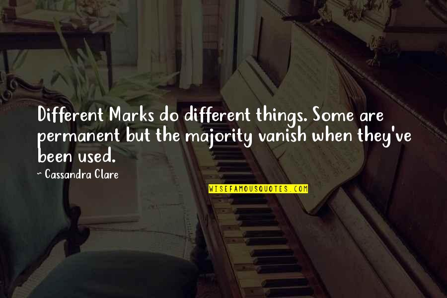 Inch Marks Vs Quotes By Cassandra Clare: Different Marks do different things. Some are permanent
