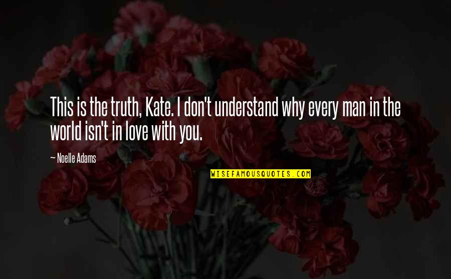 Incomprehensibles Quotes By Noelle Adams: This is the truth, Kate. I don't understand