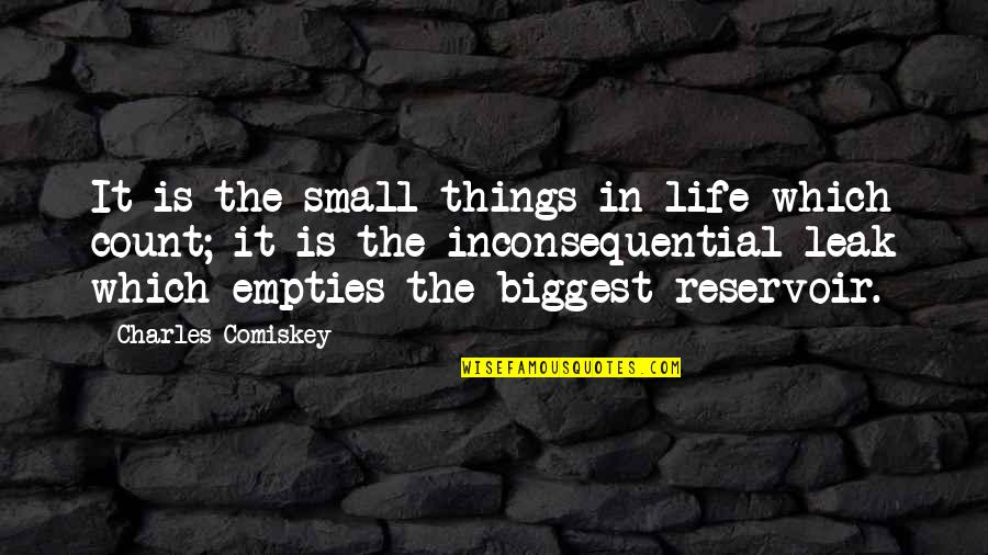 Inconsequential Quotes By Charles Comiskey: It is the small things in life which