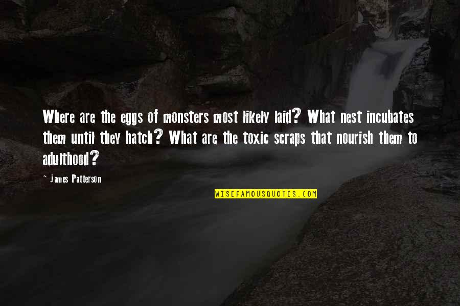 Incubates Quotes By James Patterson: Where are the eggs of monsters most likely
