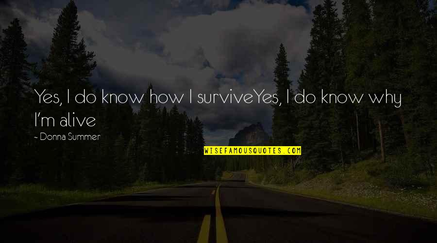 Independance Quotes By Donna Summer: Yes, I do know how I surviveYes, I