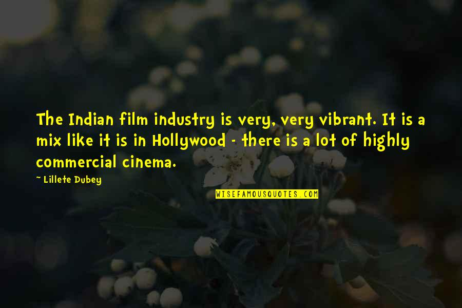 Indian Cinema Quotes By Lillete Dubey: The Indian film industry is very, very vibrant.