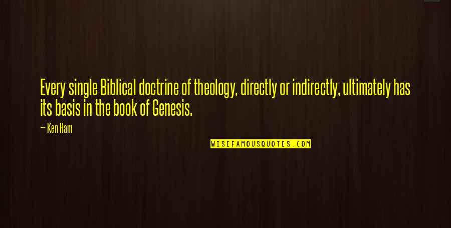 Indirectly Quotes By Ken Ham: Every single Biblical doctrine of theology, directly or