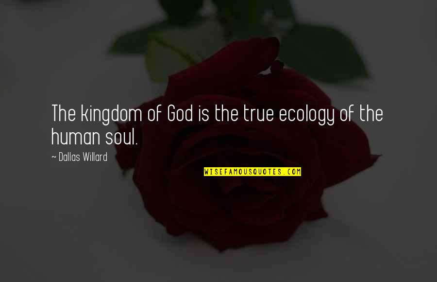 Individual Contribution To Teamwork Quotes By Dallas Willard: The kingdom of God is the true ecology