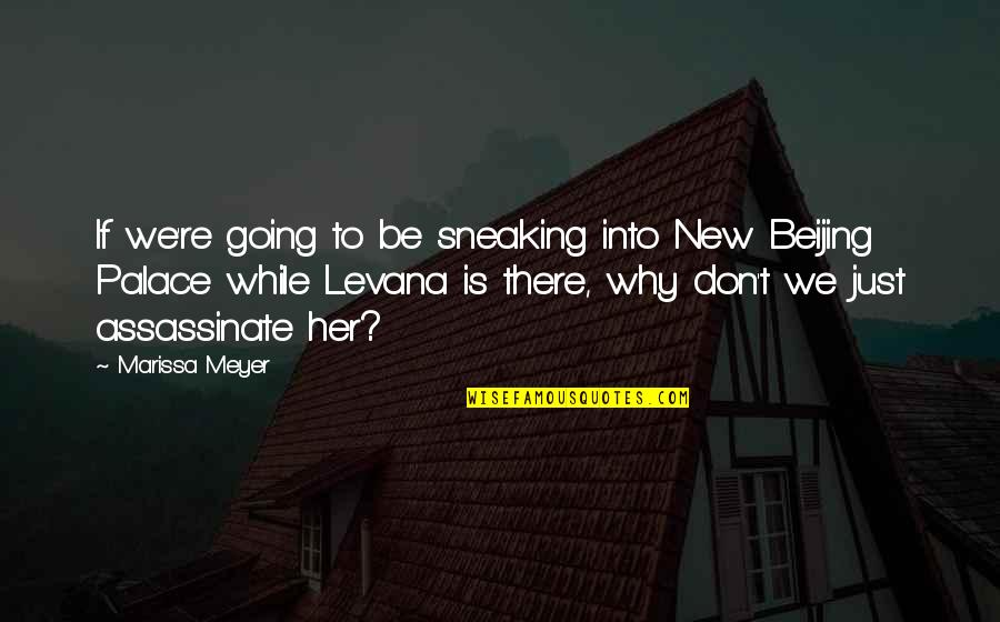Indoor Plumbing Quotes By Marissa Meyer: If we're going to be sneaking into New