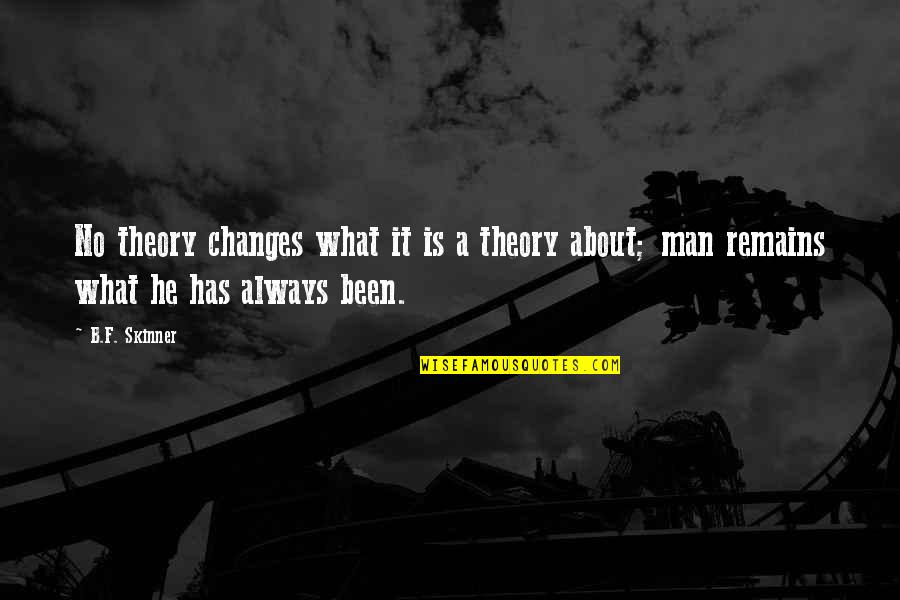 Industrial Engineer Quotes By B.F. Skinner: No theory changes what it is a theory
