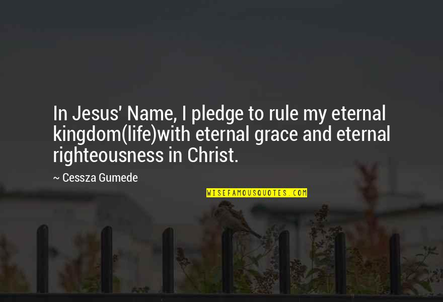 Inevadible Quotes By Cessza Gumede: In Jesus' Name, I pledge to rule my
