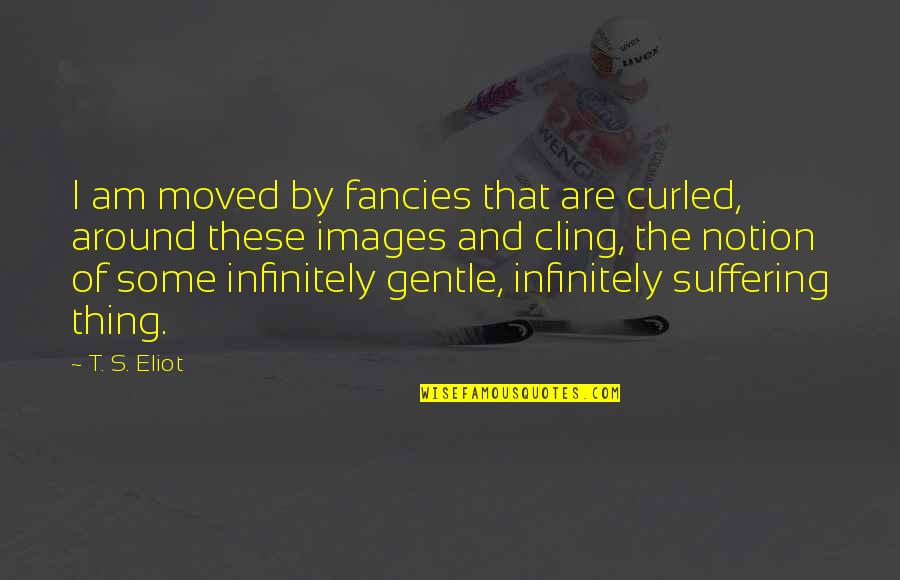 Infinitely Quotes By T. S. Eliot: I am moved by fancies that are curled,