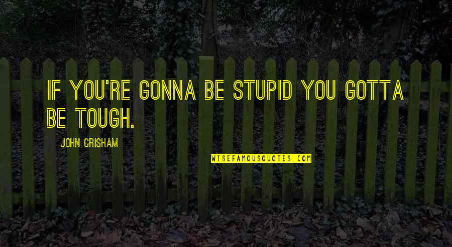 Infinity From The Fault In Our Stars Quotes By John Grisham: If you're gonna be stupid you gotta be