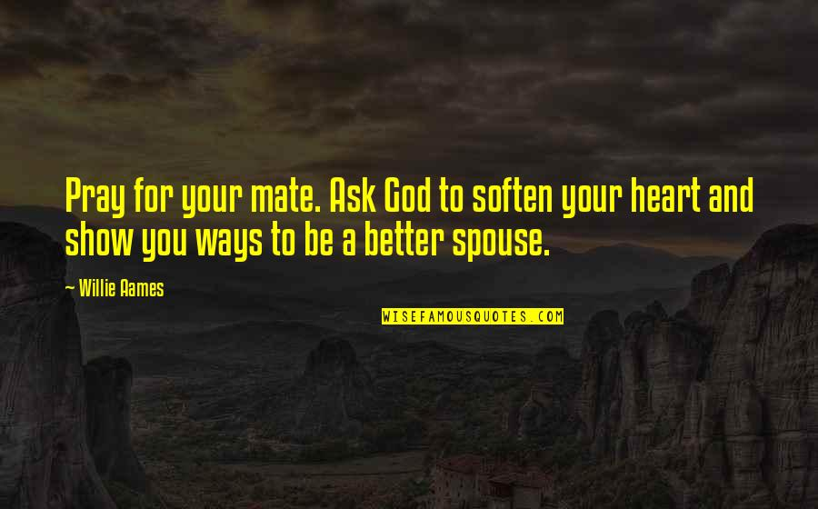 Infinity From The Fault In Our Stars Quotes By Willie Aames: Pray for your mate. Ask God to soften
