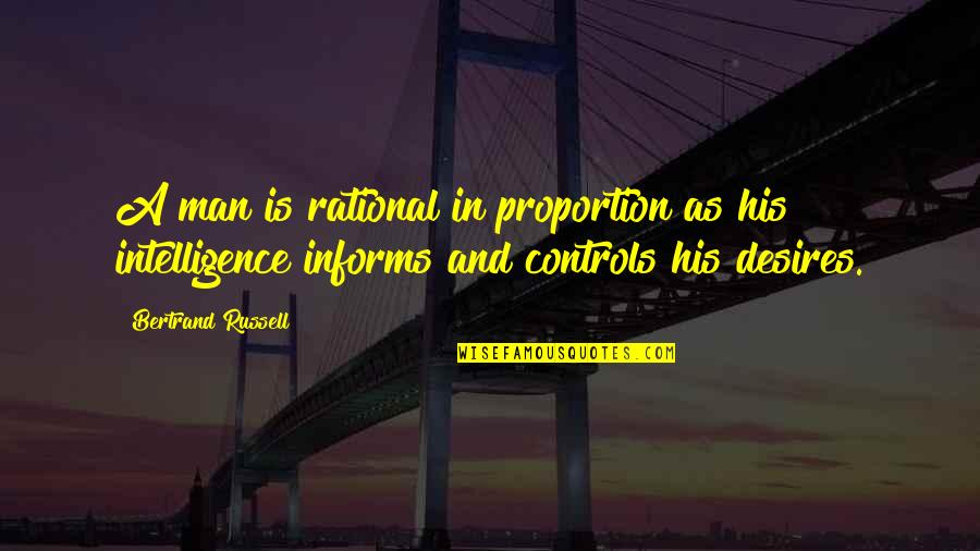 Informs Quotes By Bertrand Russell: A man is rational in proportion as his
