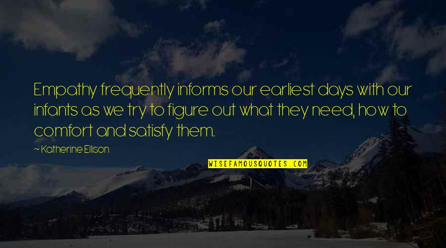 Informs Quotes By Katherine Ellison: Empathy frequently informs our earliest days with our