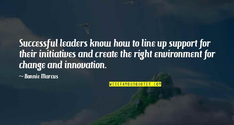 Initiatives Quotes By Bonnie Marcus: Successful leaders know how to line up support