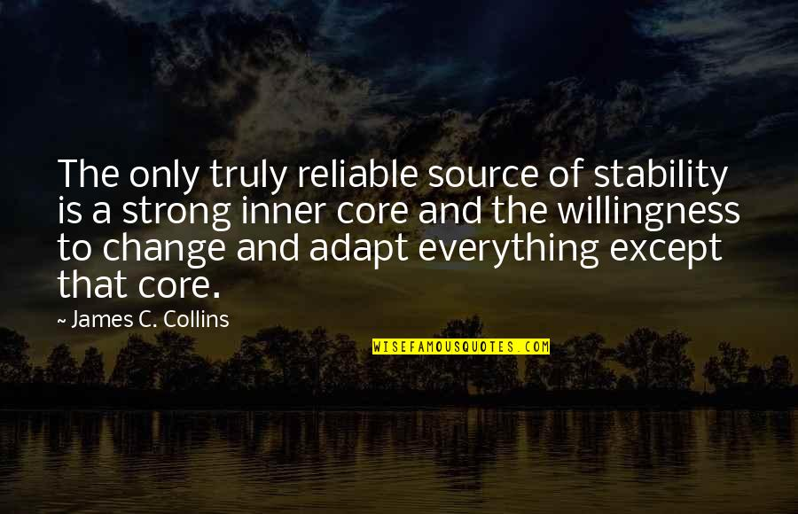 Inner Source Quotes By James C. Collins: The only truly reliable source of stability is