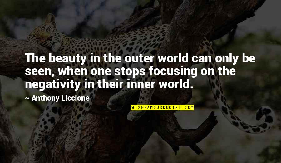 Inner World Outer World Quotes By Anthony Liccione: The beauty in the outer world can only