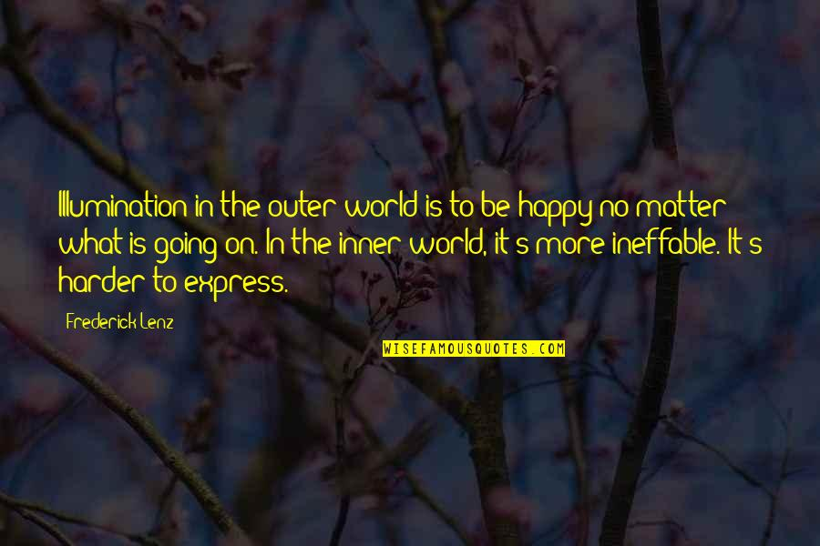 Inner World Outer World Quotes By Frederick Lenz: Illumination in the outer world is to be