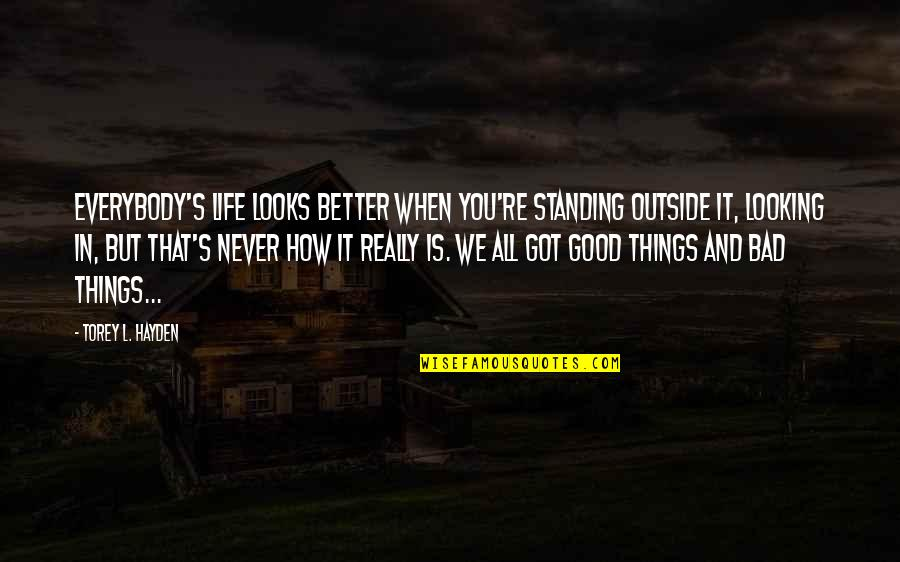 Innocent On The Outside Quotes By Torey L. Hayden: Everybody's life looks better when you're standing outside