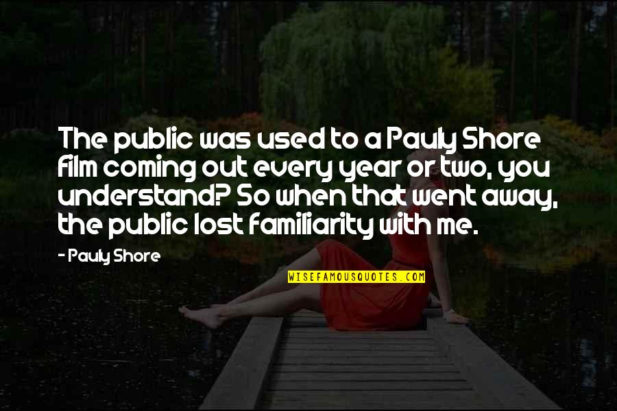 Inside Actors Studio Quotes By Pauly Shore: The public was used to a Pauly Shore