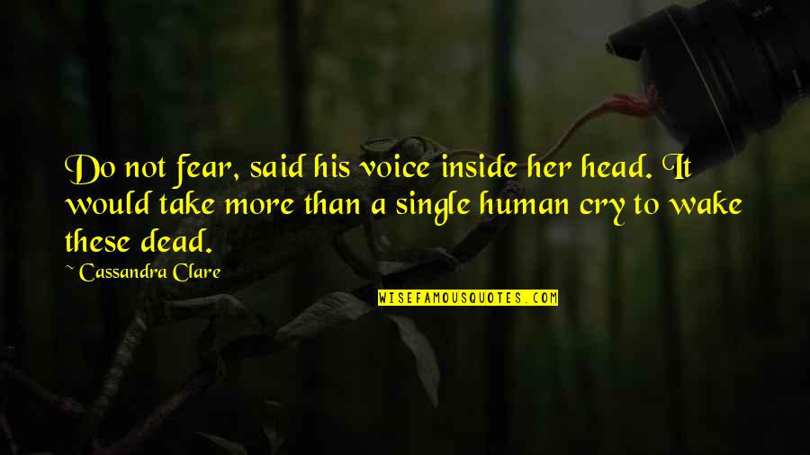 Inside Voice Quotes By Cassandra Clare: Do not fear, said his voice inside her