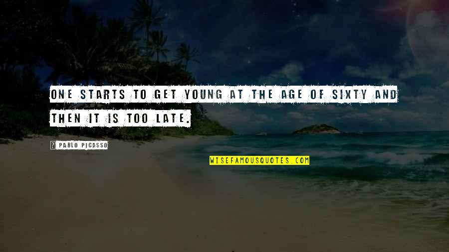 Inspirational Age Quotes By Pablo Picasso: One starts to get young at the age