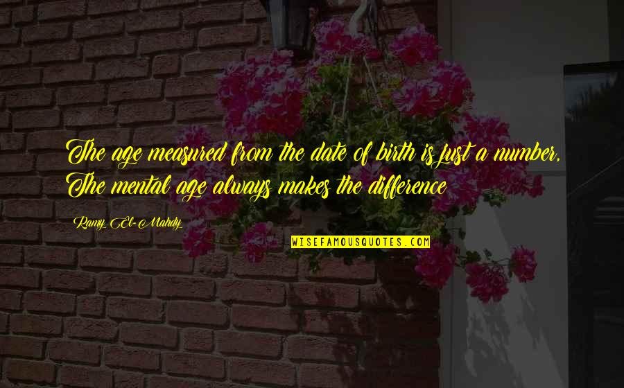 Inspirational Age Quotes By Ramy El-Mahdy: The age measured from the date of birth