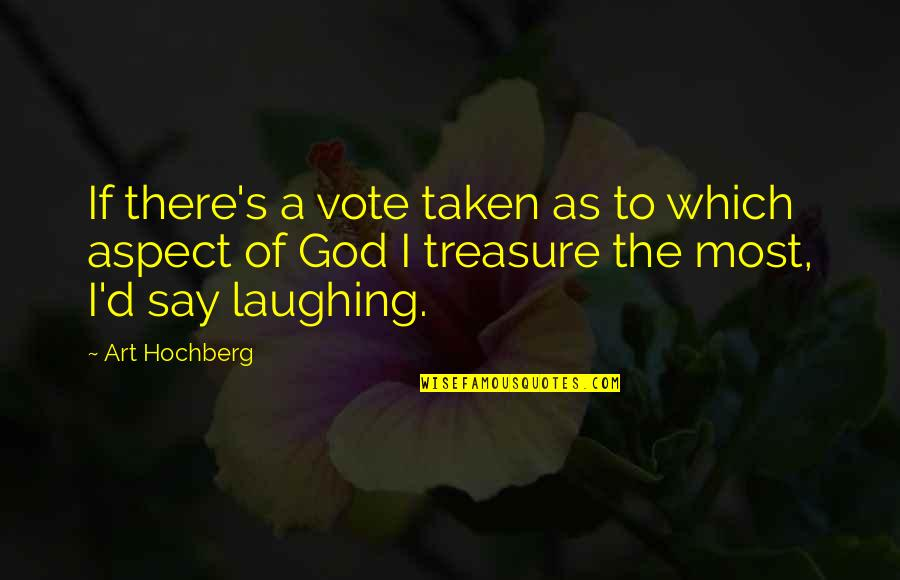 Inspirational Art Quotes By Art Hochberg: If there's a vote taken as to which
