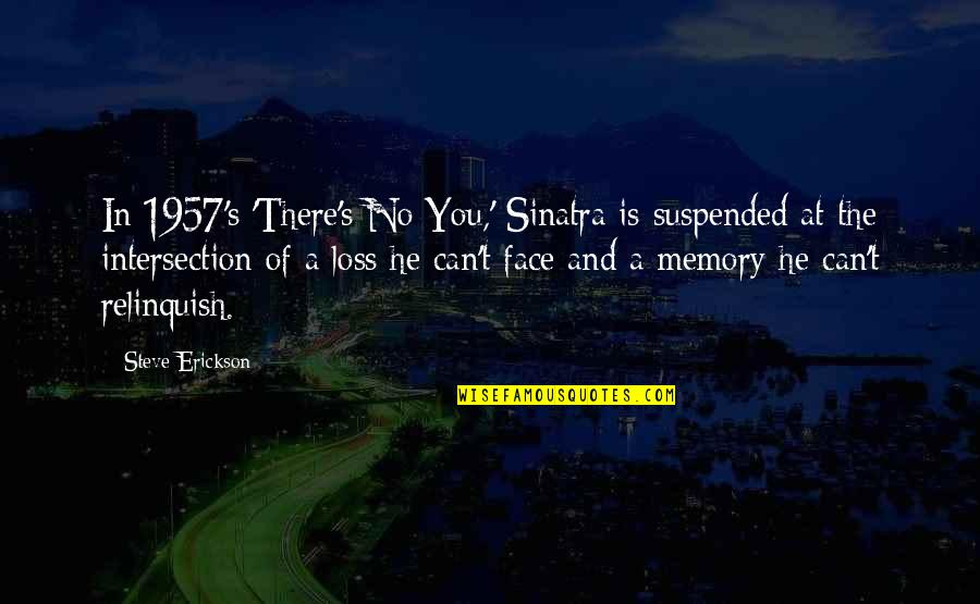 Inspirational Chalkboard Quotes By Steve Erickson: In 1957's 'There's No You,' Sinatra is suspended
