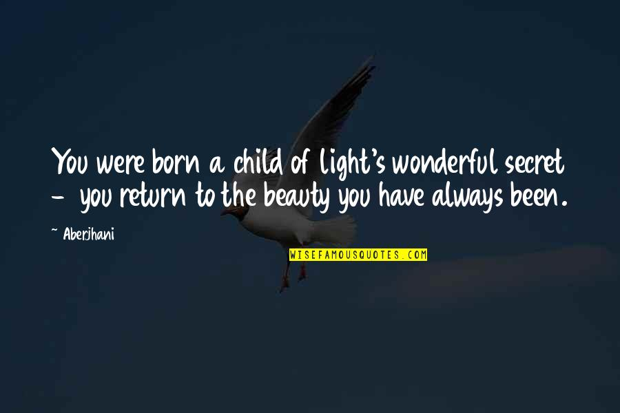 Inspirational Children's Quotes By Aberjhani: You were born a child of light's wonderful